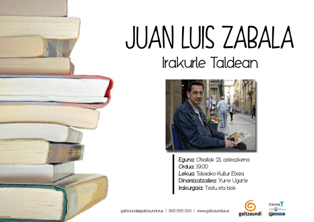 Juan Luis Zabala, otsailean, Irakurle Taldean 1