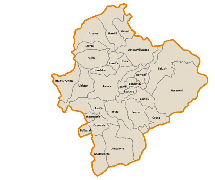 mapa tolosaldea