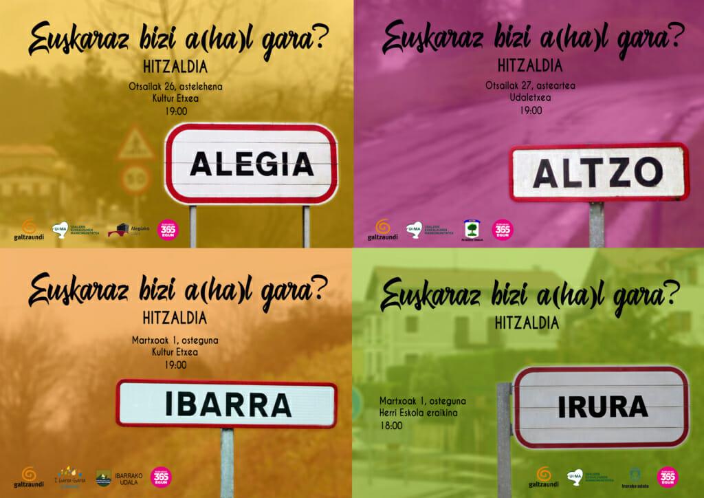 Alegia, Altzo, Ibarra eta Iruran: Euskaraz bizi a(ha)l gara? 1