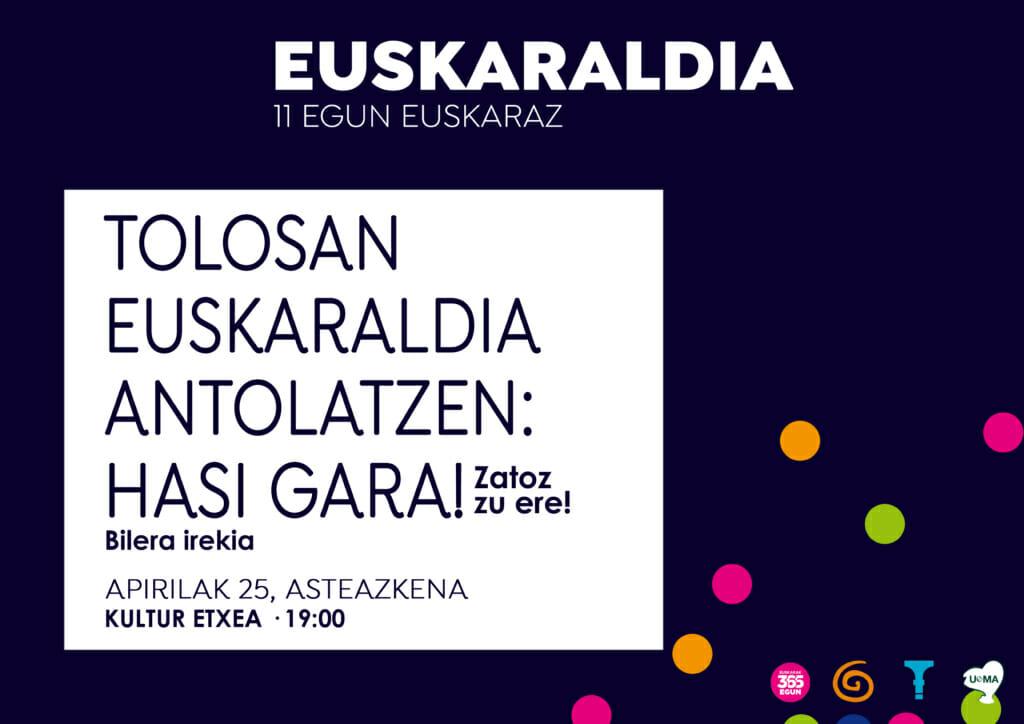 Tolosan Euskaraldia antolatzen: Hasi gara! 29