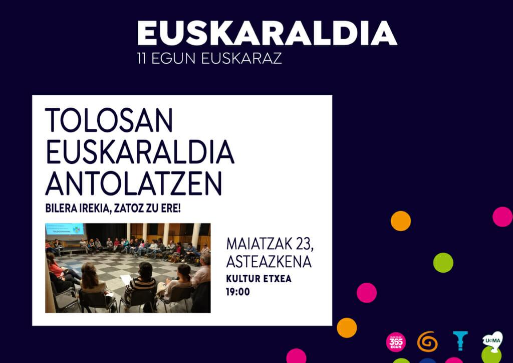 Euskaraldia Tolosan: maiatzeko bilera 27