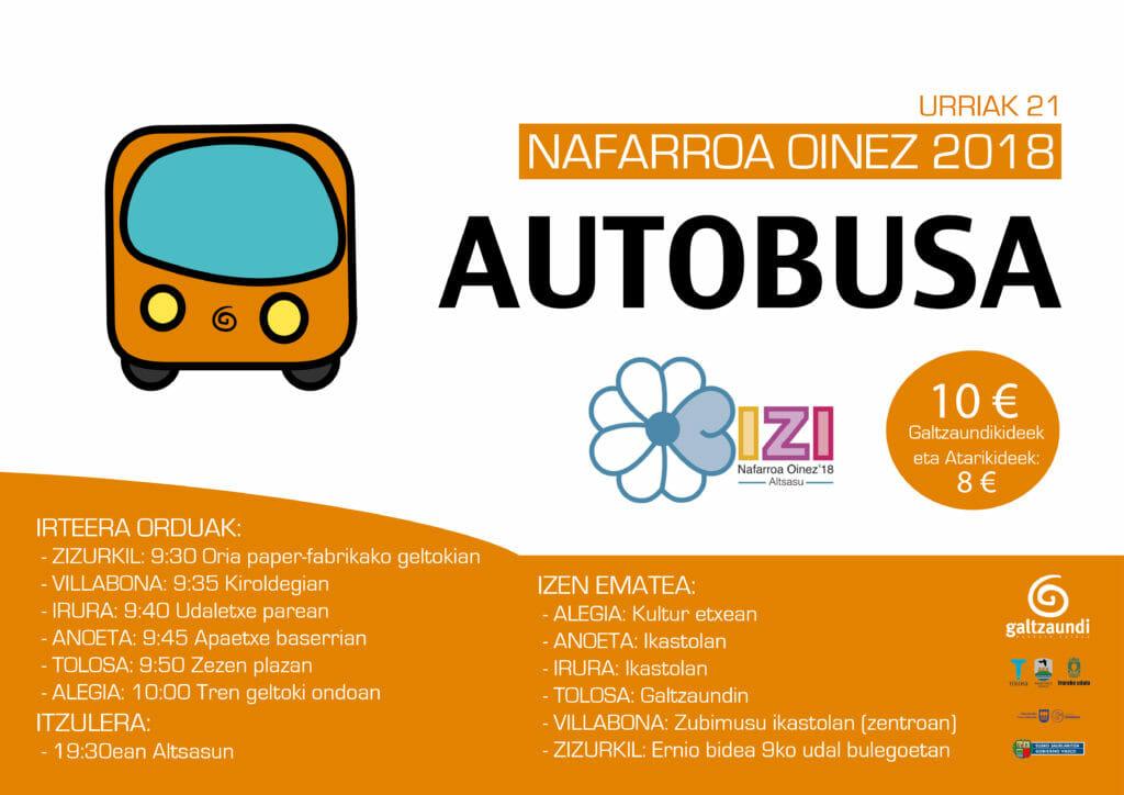 Altsasuko Nafarroa Oinezera autobusez Tolosaldetik 5