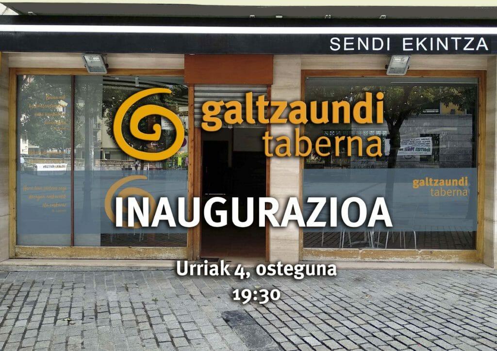 Ibarrako Galtzaundi tabernaren inaugurazioa, ostegunean 1