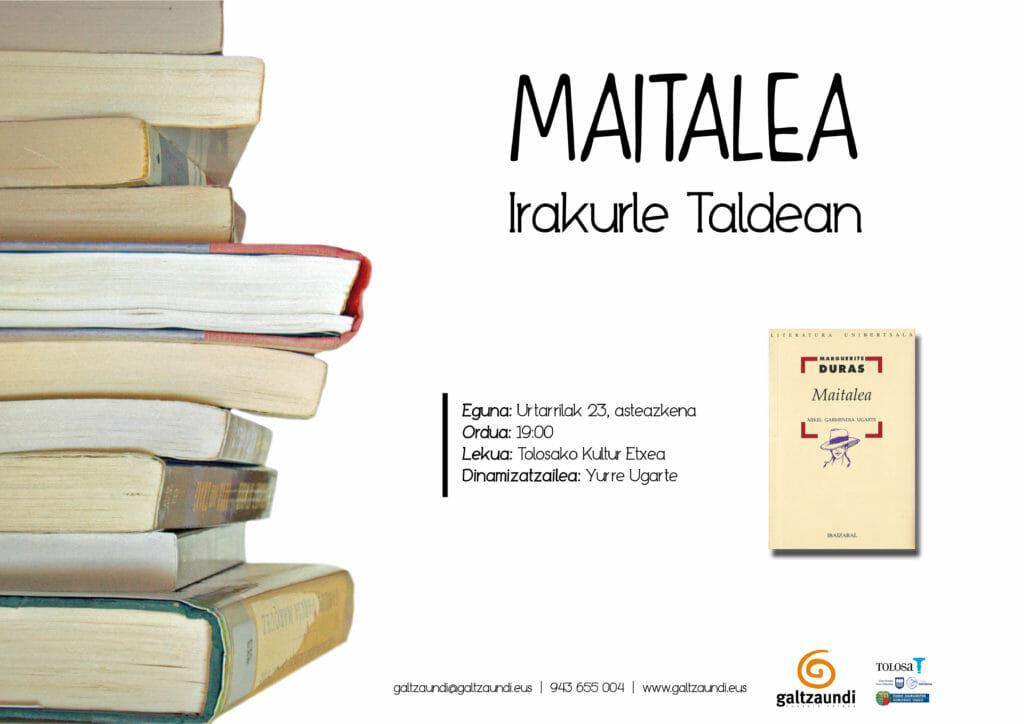 'Maitalea' irakurriz hasiko du urtea irakurle taldeak 1