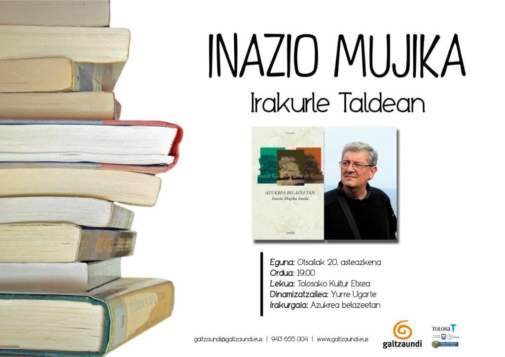 Inazio Mujikak 'Azukrea belazeetan' aztertuko du irakurle taldean 1