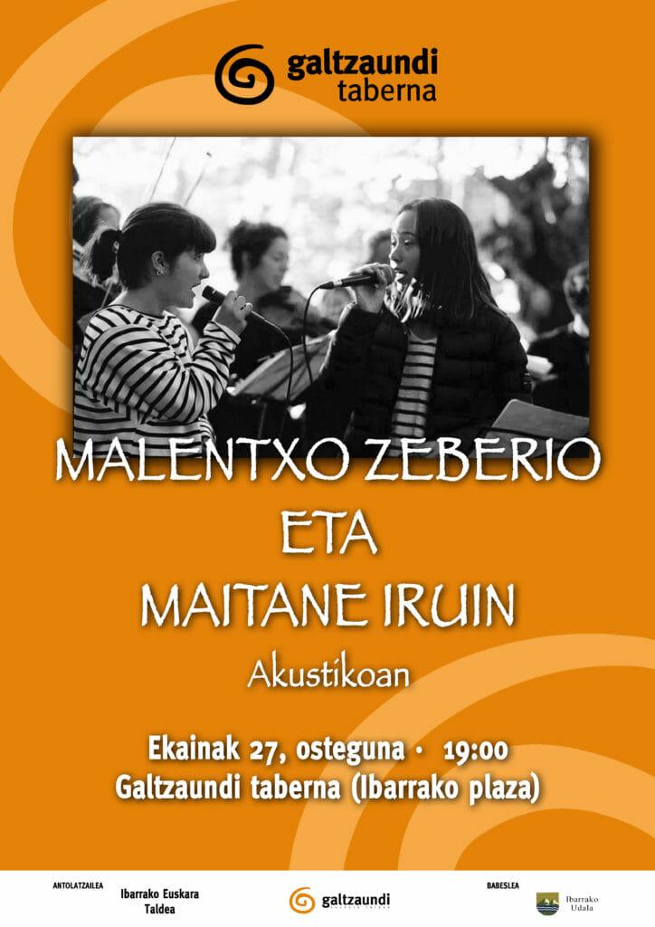 Malentxo Zeberioren eta Maitane Iruinen kontzertua tabernan 1