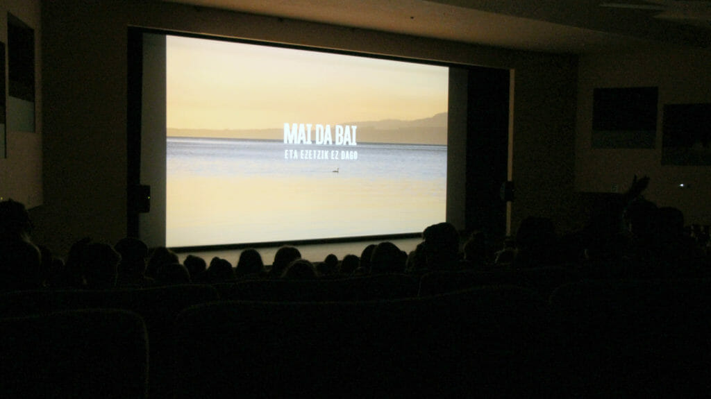 Maputxeen hizkuntzari buruzko dokumentala ikusi dute eskualdeko ikasleek 41