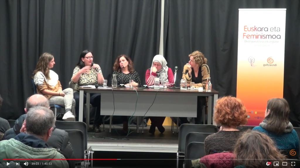 'Mugimendu Feminista eta hizkuntza praktikak' mahaingurua ikusgai 1