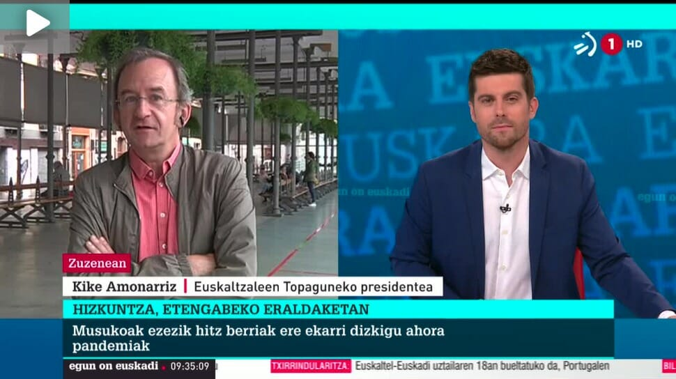Kike Amonarriz elkarrizketatu dute Egun On Euskadi saioan 43