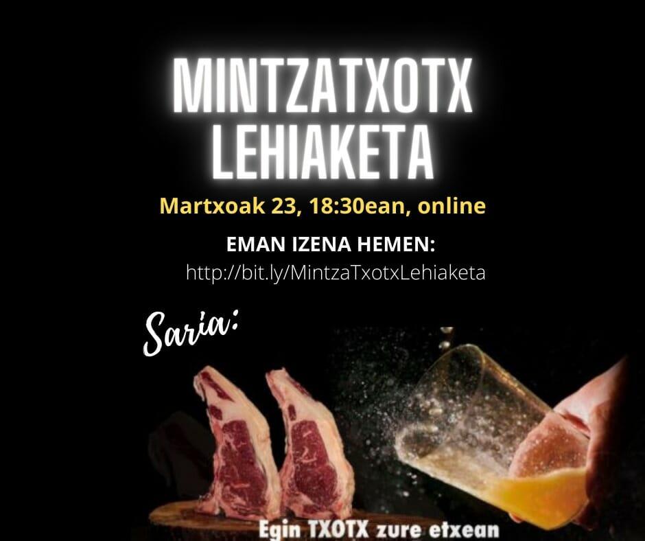 Mintzatxotx lehiaketa birtuala egingo dute Mintzalagunek 1