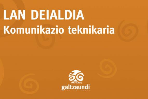 Komunikazio teknikaria behar du Galtzaundi Euskara Taldeak 3