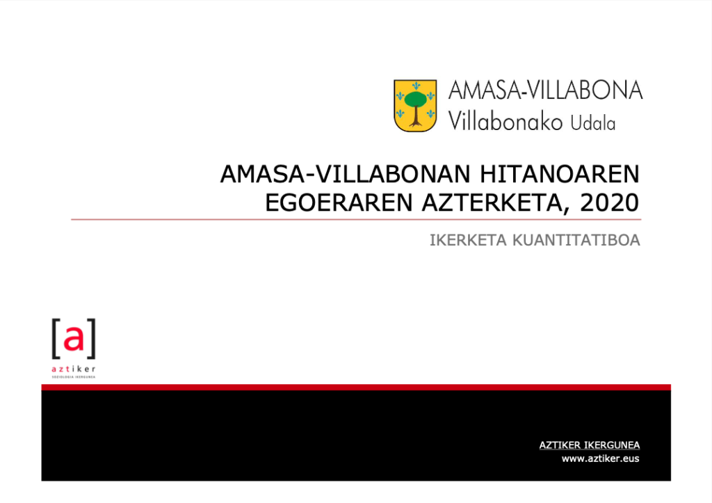 Amasa-Villabonan hitanoaren egoeraren azterketa 1