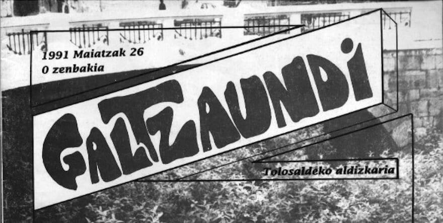 Duela 30 urte argitaratu zen lehen aldiz 'Galtzaundi' aldizkaria 5