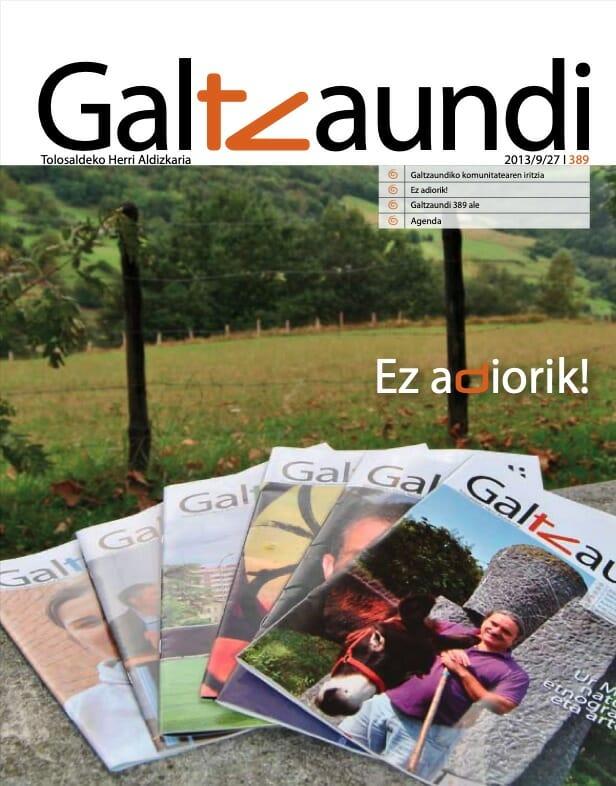 Duela 30 urte argitaratu zen lehen aldiz 'Galtzaundi' aldizkaria 13