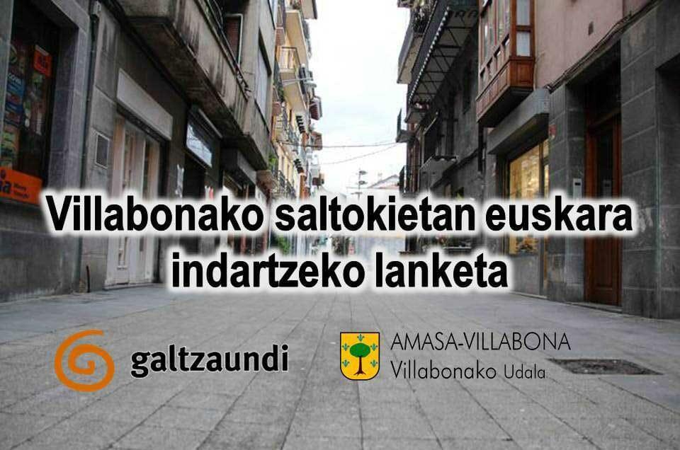 Martxan da merkataritzan euskara bultzatzeko egitasmoa Amasa-Villabonan 1
