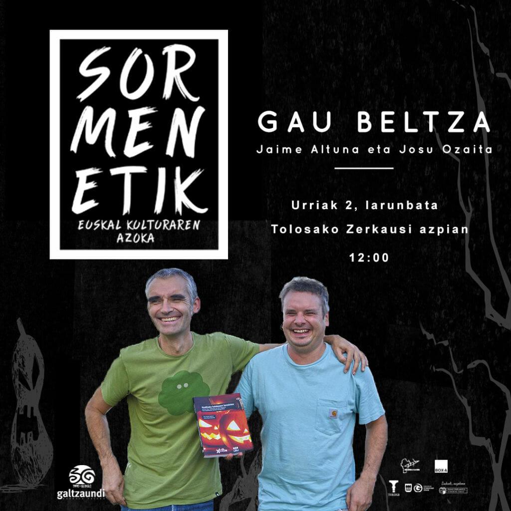 Jaime Altuna eta Josu Ozaita izango dira protagonista Sormenetiken 5